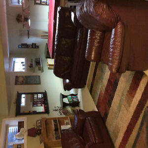 "REDUCED ""....Full Grain Leather Sofa Set"