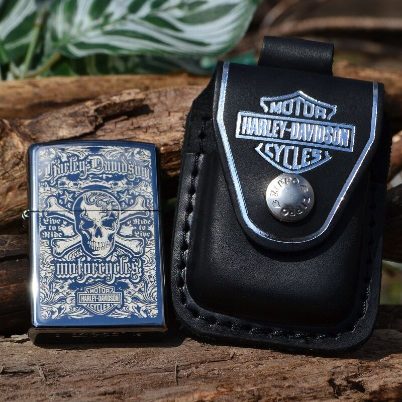 Zippo Lighter - Harley Davidson HDPBK Belt Pouch Case HD Sku