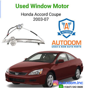 Used Right Side Window Motor Honda Accord Coupe 2003-07