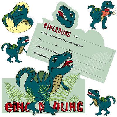 T-Rex / Dinosaurier - Einladungen und Tischdeko für den Dino Kindergeburtstag