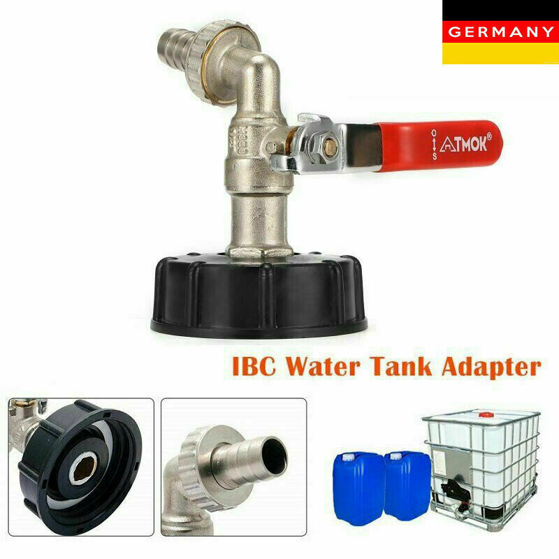 "IBC Adapter 3//4/"" Auslaufhahn Regenwassertank Adapter-1000l Wassertank Anschluss"
