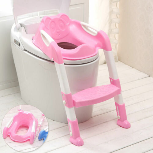 Kids Toilet Potty Trainer Seat Step Up Training StoolChair Toddler With Ladder