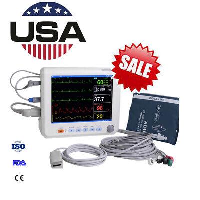 Portable Patient Monitor 6-paras Ecg Icu Ccu Vital Signs Cardiac Monitor Us Sell