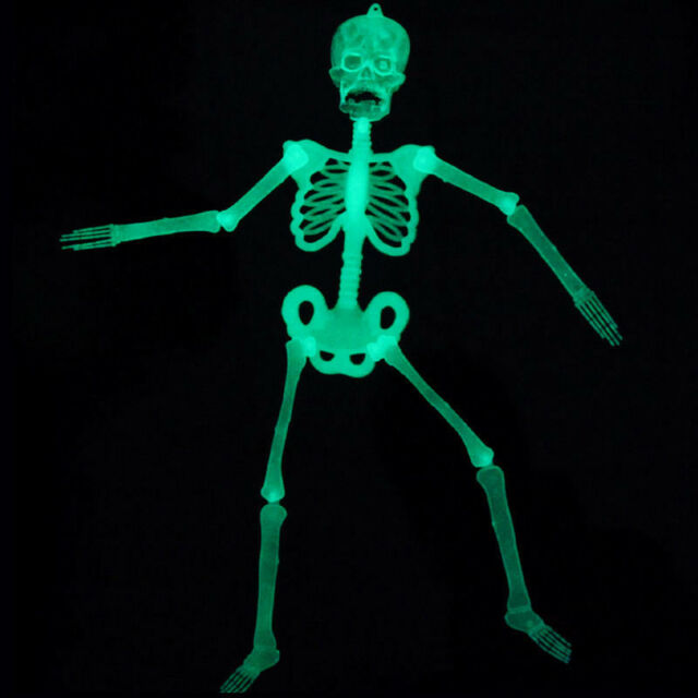 Luminous Human Skeleton Hanging Decoration Halloween Party Scary Skull Decor