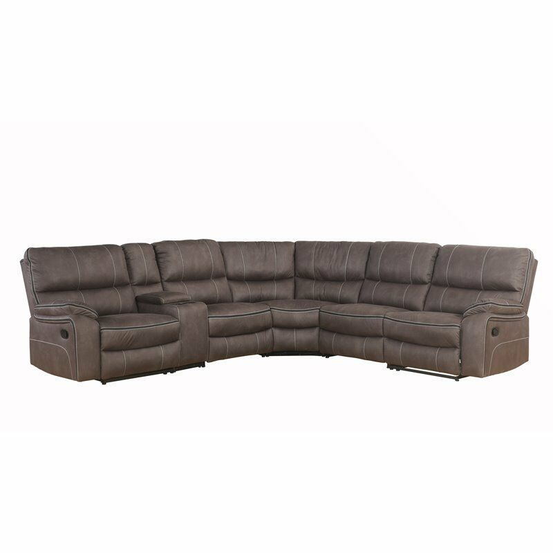 Superb Abbyson Roosevelt Grey Fabric 6 Piece Reclining Sectional Forskolin Free Trial Chair Design Images Forskolin Free Trialorg