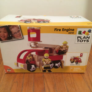 Plan Toys Fire Engine #6310 wooden toy