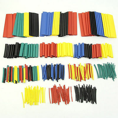 328pcs 5colors 8 Sizes Assorted 21 Heat Shrink Tubing Wrap Sleeve Kit