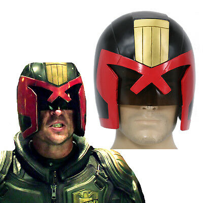 XCOSER Judge Dredd Helmet Halloween Cosplay Costume Replica Mask Props - Dredd Costume Halloween