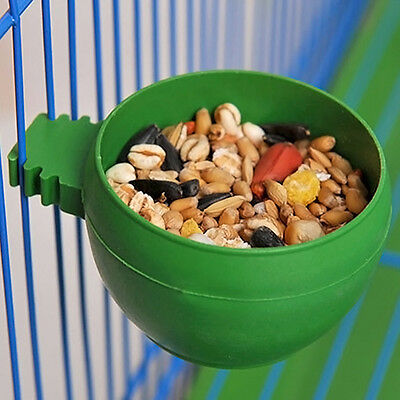 Plastic Round Food Bowl Bird Pigeons Sand Cup Feeding Parrot Supplies.US
