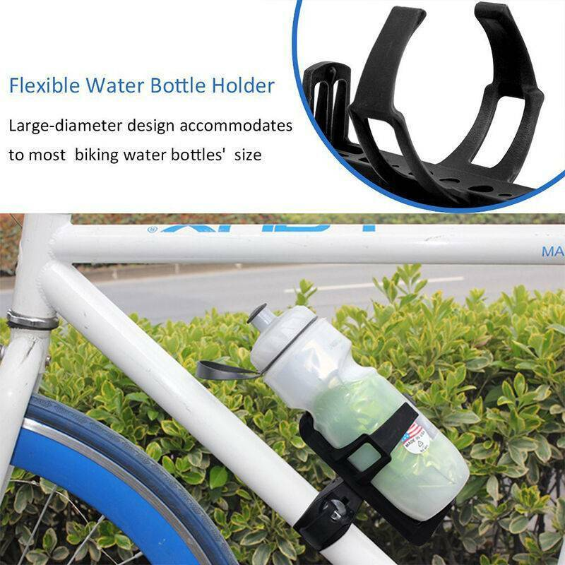 Black Bicycle Water Bottle Holder Drink Cup Cage Rack Mounta