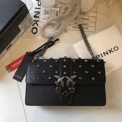 Pinko Studded Love Jewel Shoulder Bag Black Gothic Lolita sales