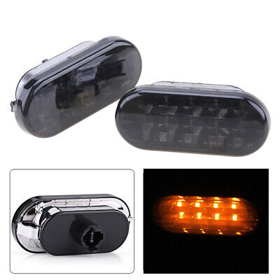 UK For VW T5 LED Yellow Side Marker Signal Light Indicators Repeaters Pair aa