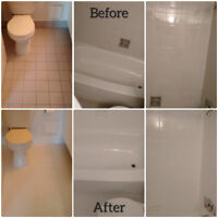 Bathtub, Shower & Tile Resurfacing. Caulking Renewal.