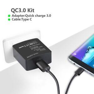 Chargeur Rapide 18W Qualcomm 3.0 + Cable USB Type C pour Samsung