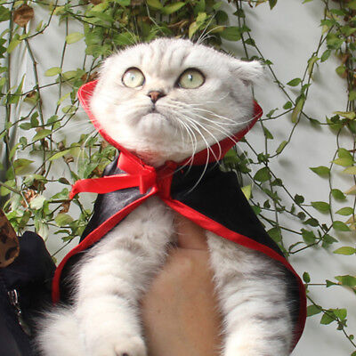 Pet Vampire Costume For Halloween Outfits with Cloak Small Dog and Cat Clothes (Vampire Halloween Costume For Dogs)