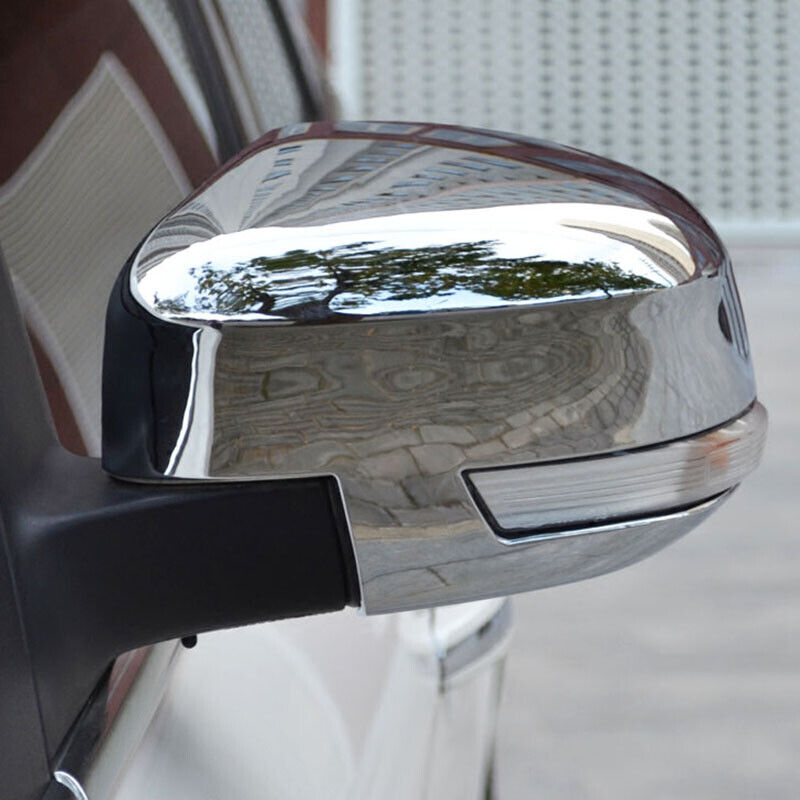 Chrome Side Door Rear View Mirror Cover Trim Overlay For