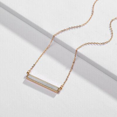 Delicate Stone - Amazon Natura Stone Long Bar Pendant Choker Necklace for Women Delicate Jewelry