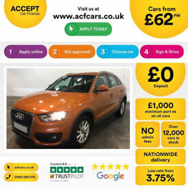 Orange AUDI Q3 4X4 1.4 1.6 1.8 2.0 TDI Diesel QUATTRO S LINE FROM £62 PER WEEK!