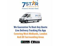 cheap man and van [download mobile app 7 star removals ] get quote live delivery tracking via app