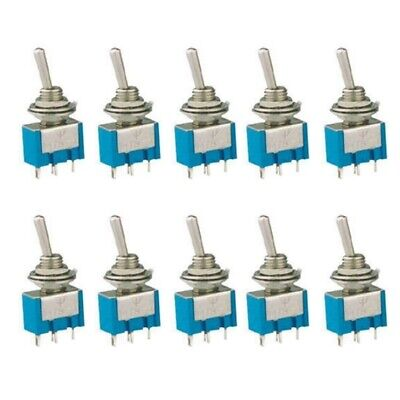 Mts-101 2 Pin Spst On-off 2 Position 6a 125v Ac Mini Toggle Switches Kit 10pcs