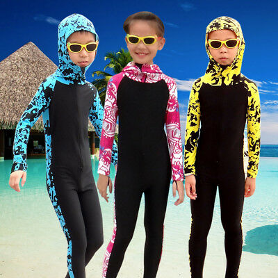 Flexible Kids Wetsuit (Kids Diving Suit Anti UV Full Body Swimwear Zip Surfing Scuba Elastic Wetsuit )
