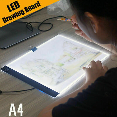 A4 LED Artista Tatuaje Plantilla Tablero USB Caja De Luz Trazos Mesa De Dibujo, usado segunda mano  España