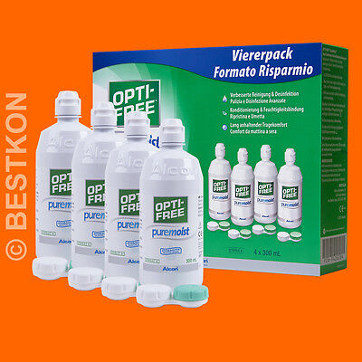 (3,08 EUR / 100ml) Opti-Free PURE MOIST 4x300 ml (EVER)