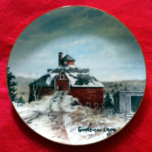 """Round Barn At West Brome"" Collector Plate"