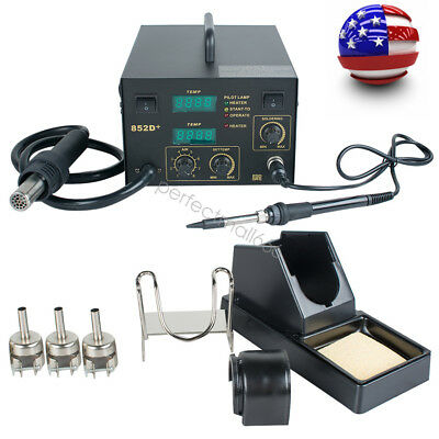 60w Hot Air Gun Unit Soldering Desoldering Smd Rework Station Welding Solder