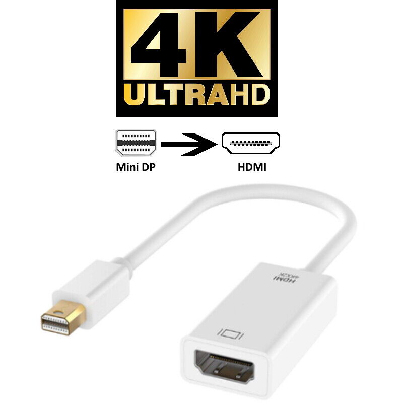4K mini DP Displayport Thunderbolt zu HDMI Adapter 4096x2160 UHD 2160p