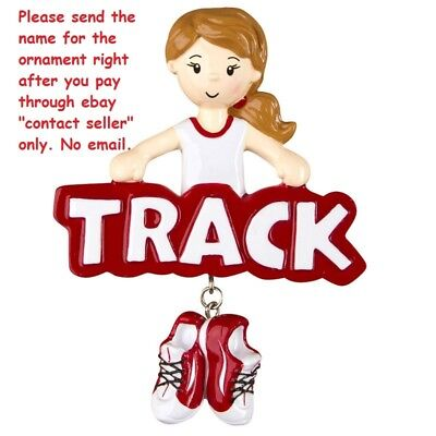 GRANDDAUGHTER GIRL CROSS COUNTRY RUNNING TRACK PERSONALIZED CHRISTMAS ORNAMENT ()
