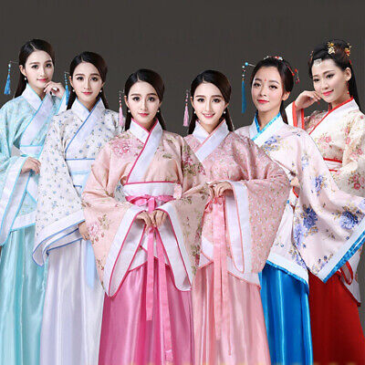 Traditional Ancient chinese costume woman tang dynasty dress fairy hanfu cosplay - Fairy Costumes Women