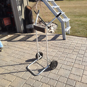 """"""" Garelick""""  Stainless Outboard motor storage with wheels.."""