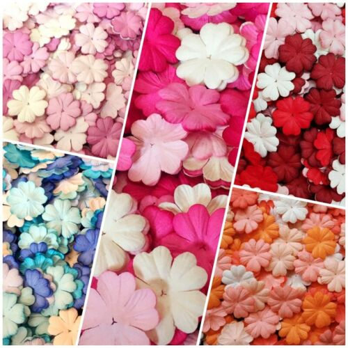 Mulberry Paper Flowers Heart Petal Wedding Scrapbooking Card for Craft & D.I.Y