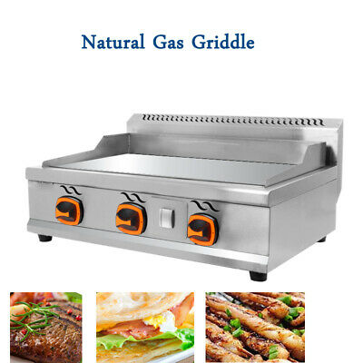 Commercial Countertop Gas Griddle 31 Inch Restaurant Flat Top Grill Bbq 2000pa