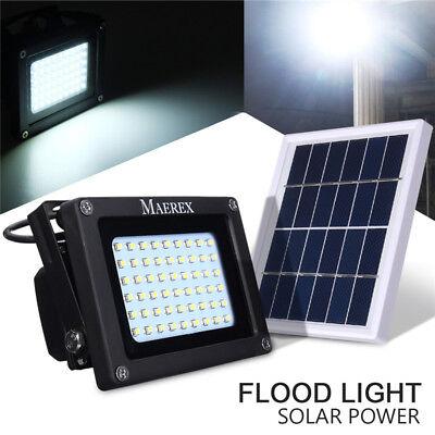 Solar 54 LED Light Sensor Flood Spot Lamp Garden Outdoor Security Waterproof