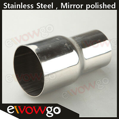 """70MM (2.75"""") ID To 63MM(2.5"""") OD SS Flared Exhaust Reducer Connector Pipe"""