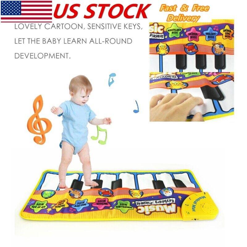 Kids Baby Musical Music Keyboard Piano Play Mat Development Educational Gym Toys