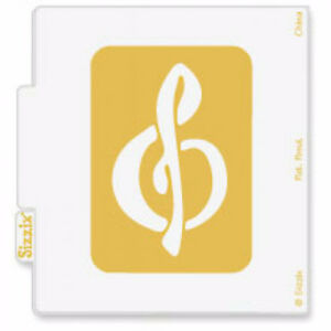 Sizzix Simple Impressions Embossing Folder - Treble Clef - $8