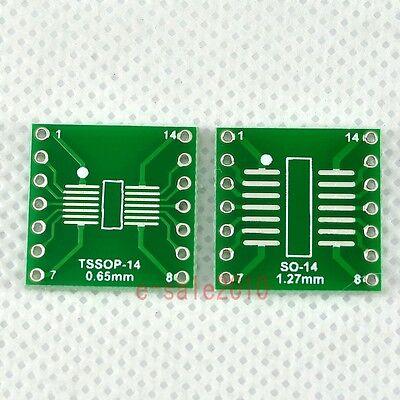 5pcs New Sosopsoicssoptssopmsop14 To Dip 14 Adapter Pcb Board Converter F03