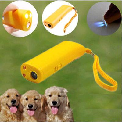Yellow Train Dog Repeller Control LED Ultrasonic Anti Bark Device Stop Barking