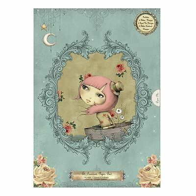 SALE Santoro Mirabelle Premium A4 Paper Pad (Card) 36 Glitter Sheets (Decoupage)