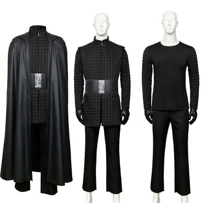 Star Wars 9 The Last Jedi Kylo Ren Cosplay Costume For Men Outfit Cloak