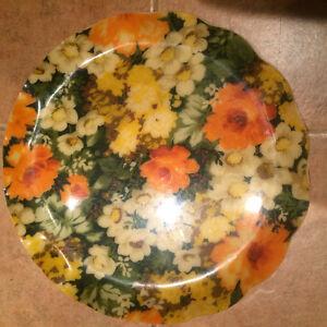 Vintage flowers tray - plateau retro fleuris