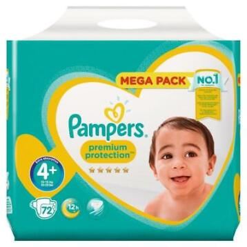 Pampers Baby Luiers Premium Protection Maat 4 plus - 72 luie