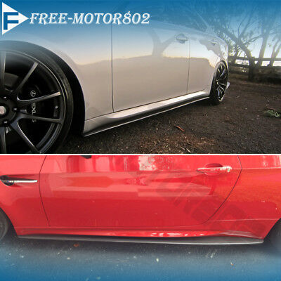 Fit Nissan Subaru Toyota Universal Side Skirt Extension Splitter Bottom Line ABS segunda mano  Embacar hacia Argentina