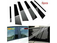 Black Pillar Posts fit Volkswagen Routan 09-15 6pc Set Door Cover Trim Piano Kit