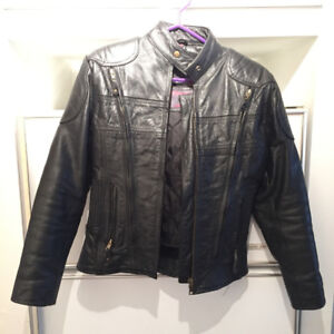 Blouson de moto en cuir | Black leather motorcycle jacket