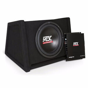 "Package - 12"" MTX SUB + AMP + Solid enclosure - Like New"