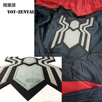 Far From Home Spiderman Costume Rubber 3D Logo Cosplay For Suit a Pair Logo DIY](Pairs Costumes)
